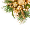 Frame christmas tree with ornaments for your design Stock Images