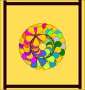 A frame with circular round abstract colorful pattern
