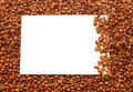 Frame from coffee beans Stock Image