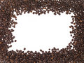 Frame of coffee beans Royalty Free Stock Images