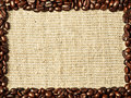 Frame from coffee beans Royalty Free Stock Photo