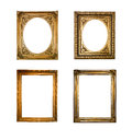 Frame collection of old squared and rounded frames isolated Royalty Free Stock Photography