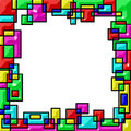 Frame, Colorated Edges Of Geom...