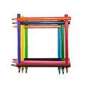 Frame of colored pencils Royalty Free Stock Photo