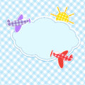 Frame with colorful aeroplanes Royalty Free Stock Photography