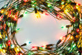 Frame of colorful Christmas lights Royalty Free Stock Photos