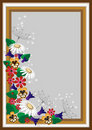 Frame with a corner of the wild flowers.Card. Royalty Free Stock Images