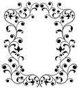 Frame with curls, border, vector Royalty Free Stock Photo