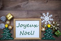 Frame With Decoration, Joyeux Noel Mean Merry Christmas Royalty Free Stock Photo