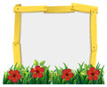 Frame design with red hisbicus