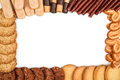 Frame from different biscuits Royalty Free Stock Photo