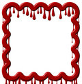 Frame Dripping Red Paint Royalty Free Stock Images