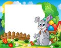Frame with Easter bunny theme 4 Royalty Free Stock Image
