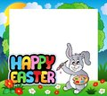 Frame with Easter bunny theme 7 Stock Photos