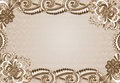 Frame with an embossed pattern in the rococo style