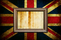 Frame on England flag Royalty Free Stock Photo