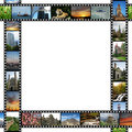 Frame with films of travel images Royalty Free Stock Photo