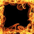 Frame of fire on the black background Stock Photography