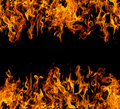Frame of fire flames Royalty Free Stock Photo