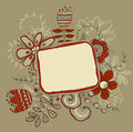 Frame with flowers retro floral background Royalty Free Stock Images