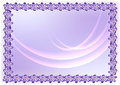 Frame of flowers violet lowing lines Royalty Free Stock Photography
