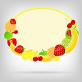 Frame with fresh fruits vector illustration Stock Photography