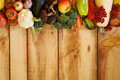Frame of Fruits and Autumn Yield Royalty Free Stock Photo