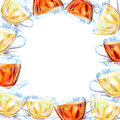 Frame of a glass cup. Royalty Free Stock Photo