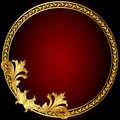 Frame  with gold(en) pattern on circle Royalty Free Stock Images