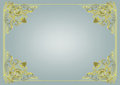 Frame with graceful angles green and yellow on a gray background Stock Photo