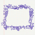 Frame with grape Stock Photos