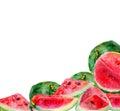 Frame of grape watermelon. Royalty Free Stock Photo
