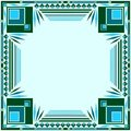 Frame green and blue Royalty Free Stock Photo