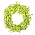 Frame with green chilis Capsicum annuum Royalty Free Stock Photo