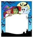 Frame with Halloween characters 2 Royalty Free Stock Photography