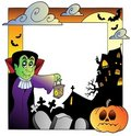 Frame with Halloween topic 2 Royalty Free Stock Images