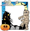 Frame with Halloween topic 3 Royalty Free Stock Image