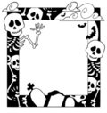 Frame with Halloween topic 4 Stock Photography