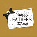 Frame happy fathers day over brown background vector illustration Royalty Free Stock Photography