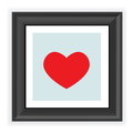 Frame With Heart Shape Isolate...