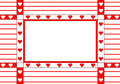 Frame with the hearts Royalty Free Stock Image