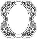 Frame with helices Royalty Free Stock Photo
