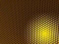 Frame of honeycomb Stock Image