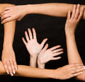 Frame of Human Hands Stock Image