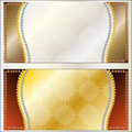 Frame illustration background in gold and silver Royalty Free Stock Images