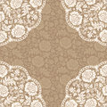 Frame with lace flowers vector on the brown background roses eps Stock Image