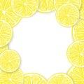 Frame of lemon slices