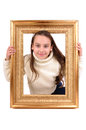 Frame little girl with a Royalty Free Stock Photography