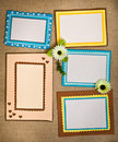 Frame made ​​of paper Royalty Free Stock Images