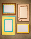 Frame made ​​of paper Stock Photos